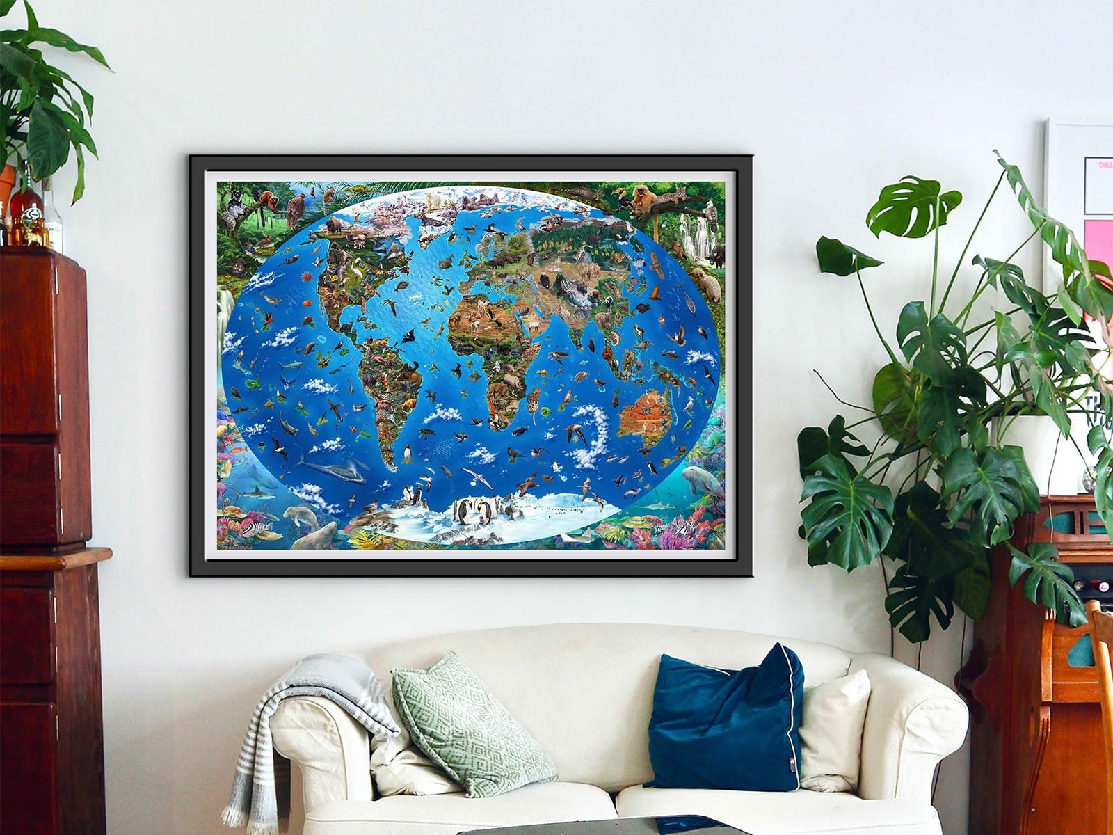 Endangered Species Nr. 2: The World Map – Art Poster